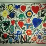 La toile dédicace réalisée par les élèves